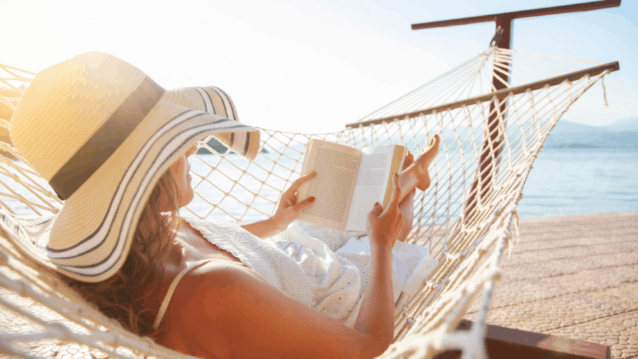 woman-reading-in-a-hammock